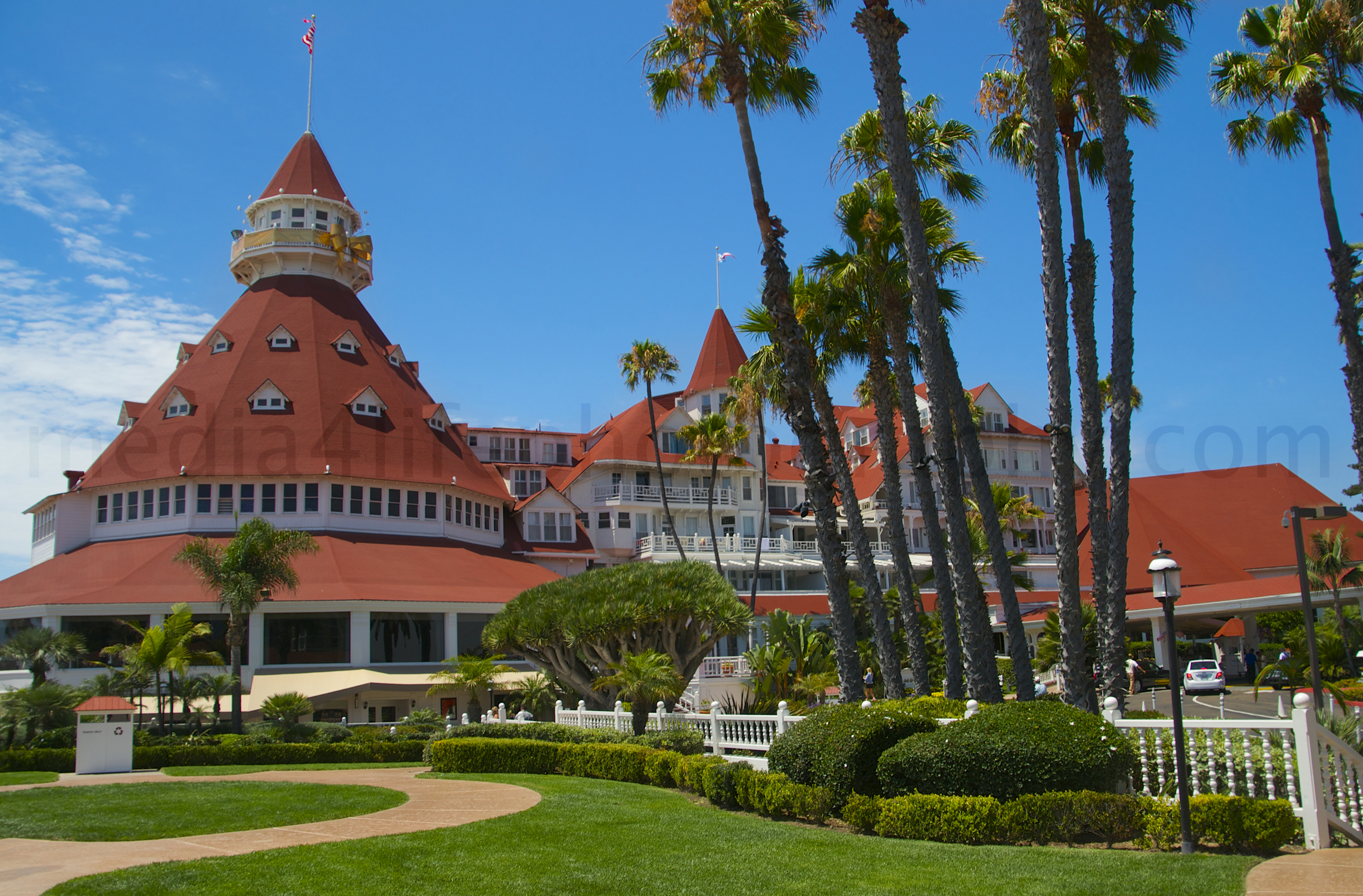 The Hotel Del Coronado is one of San Diego's famous landmark and ...